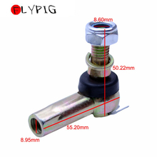 FLYPIG New Motorcycle ATV Parts & Accessories 10mm Bolt Tie Rod End Ball Joiner 110cc 125cc Quad Dirt Bike ATV Buggy Go Kart 350mm steering wheel 520mm gear pinion 490mm u joints tie rod assy fit for diy china go golf kart buggy karting utv bike parts