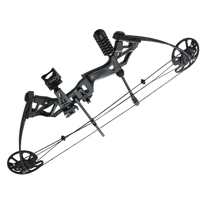 35-70lbs Aluminum Alloy Compound Bow with Stabilizer & Bow Sight for RH Practice Target Shot Archery Hunting Shooting Stable Bow 20 70 lbs compound bow 17 29 inch by aluminum alloy in 3 color for outdoor archery hunting shooting