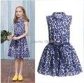 Catimini niñas vestidos de verano 2015 niños ropa de bebé niño de impresión vestido marca catimini niñas ropa TY132