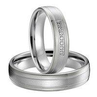 Лучший Подарок на годовщину серебряный цвет titanium изделия западный пользовательские обручальные кольца пар Наборы для любителей