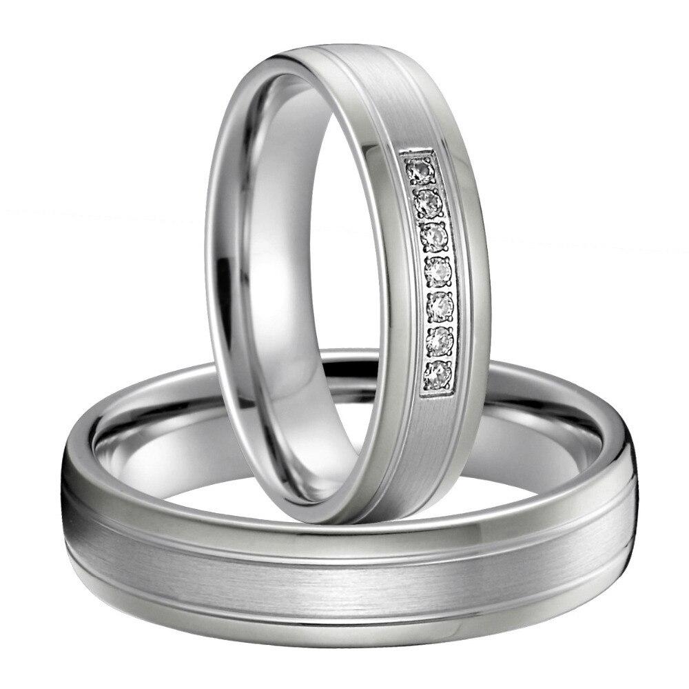Meilleur cadeau d'anniversaire argent couleur argent titane bijoux western personnalisé bandes de mariage couples anneaux ensembles pour les amoureux
