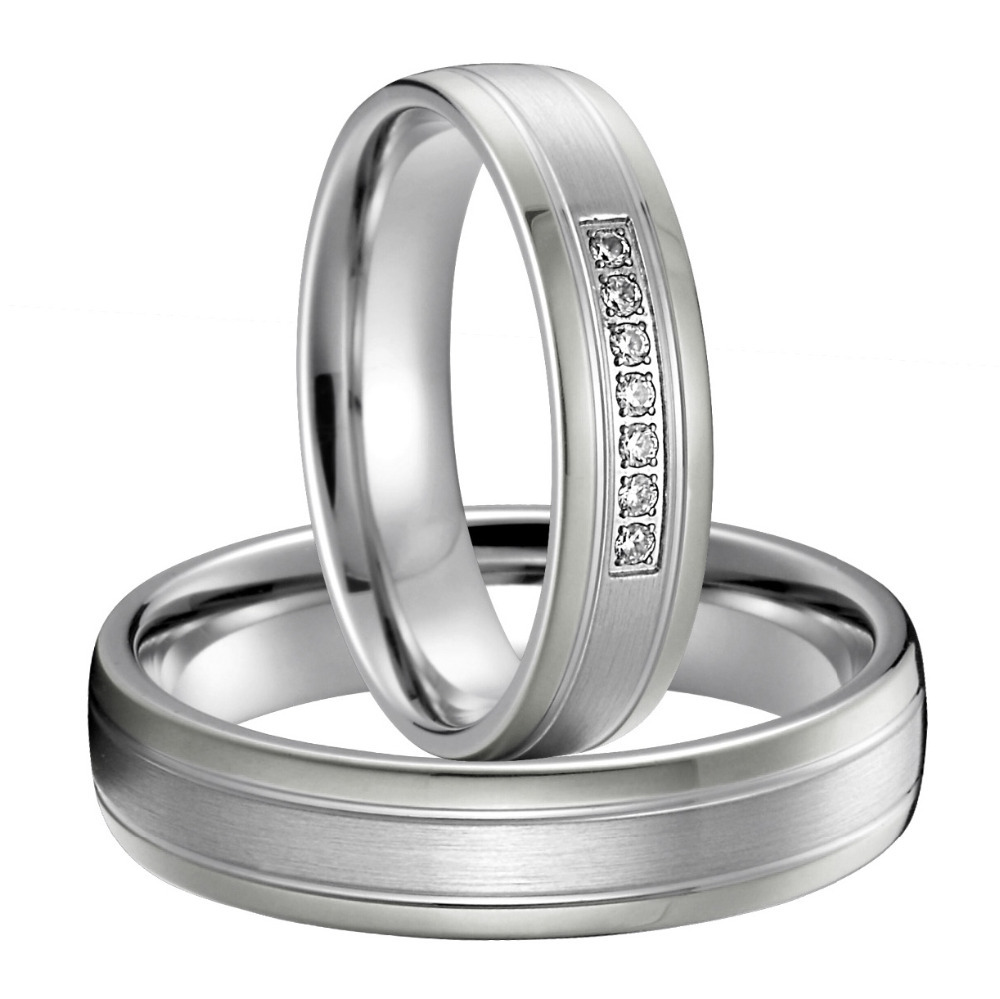 Best Anniversary Gift Silver Silver Color Titanium Jewelry Western