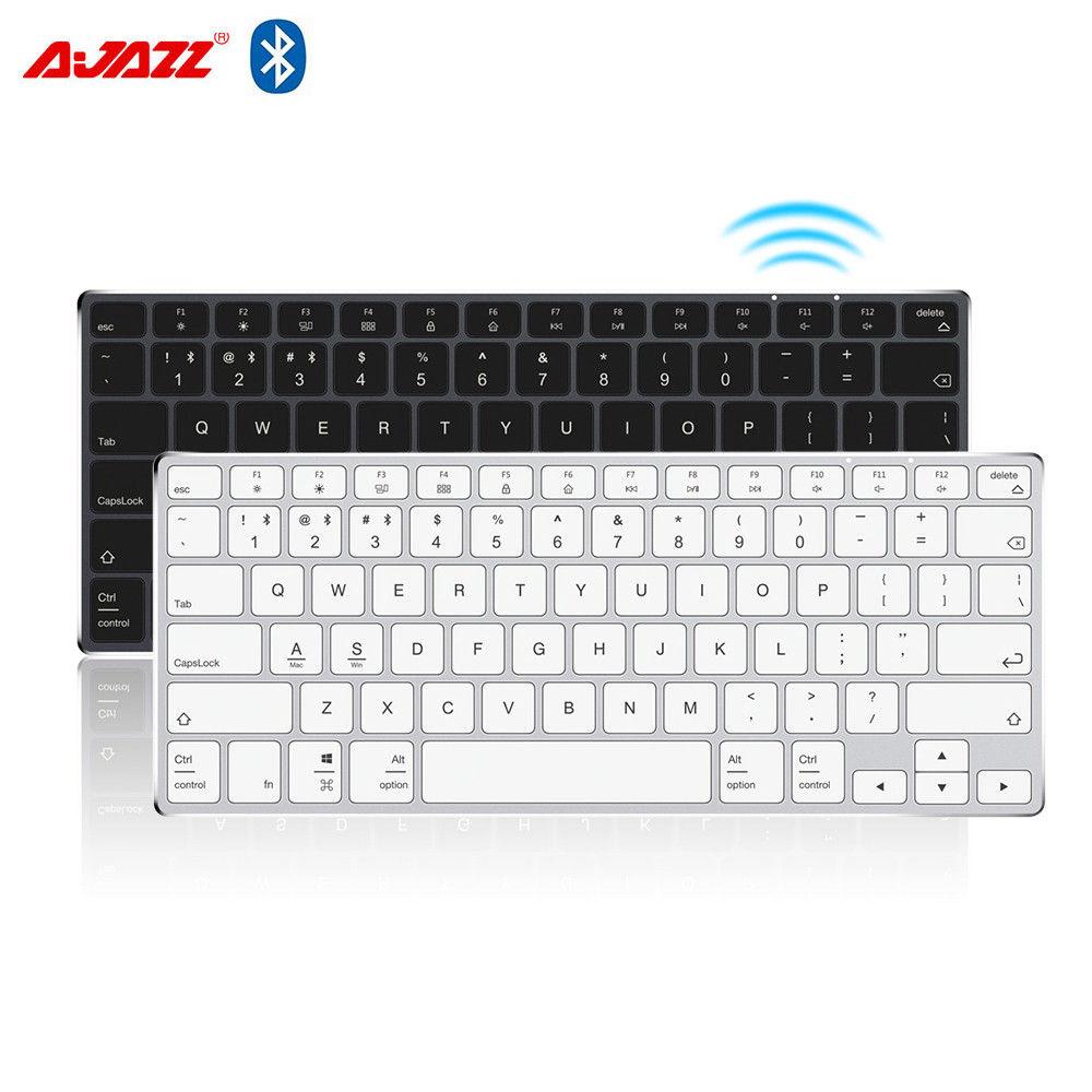 Ajazz AK3.1 Ultra-mince Bluetooth Clavier 78 Touches Rechargeable Ergonomique Panneau Métallique Mini Clavier Pour Téléphone PC Portable Tablet
