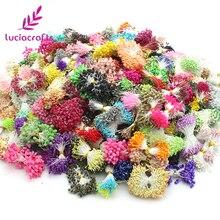 Lucia Craft г/лот 100, приблизительно 1100 шт. случайный смешанный размер искусственный цветок Двойные головки тычинки цветочный для свадебного декора 002010015