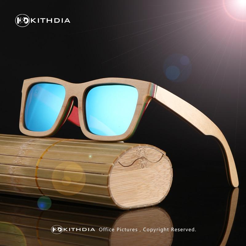 KITHDIA clásico de madera gafas de sol de las mujeres de marco de madera gafas de sol de bambú, gafas de lentes polarizadas gafas de sol hombre polarizadas uv400