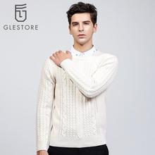 Glestore 2017 New Mens Pullover O-neck Full Sleeve Striped Cashmere Sweater Male Knitting Patterns Men Sweaters Brand-clothing