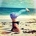 JLZLSHONGLE New Sexy Sereia Estilos Gradiente Leggings Mulheres de Fitness Legging Jeggings Elásticas Wicking Feminino Praia Calças Casuais