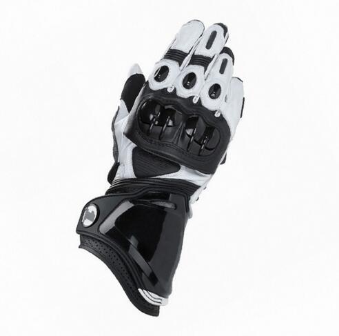 Nouveau Hommes de GP PRO Véritables gants En Cuir Moto Racing Course Gants Noir Blanc