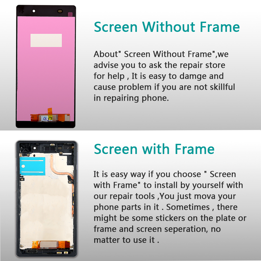 For Sony Z2 Screen For Sony Xperia Z2 L50W D6502 D6503 LCD Display Screen Touch Panel Digitizer For Sony Xperia Z2 lcd Adhesive in Mobile Phone LCD Screens from Cellphones Telecommunications