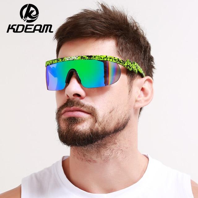 c6c522dff06 KDEAM 2018 Summer New Sport eyewear Men Goggle Oversize Party Sunglasses  flat top Square Sun glasses