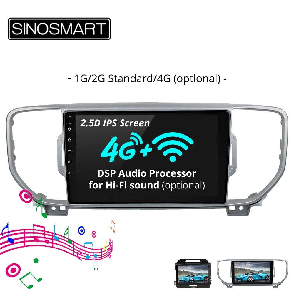 SINOSMART 2 5D IPS Screen 1G 2G Car Navigation GPS Player for Kia KX5 Sportage R