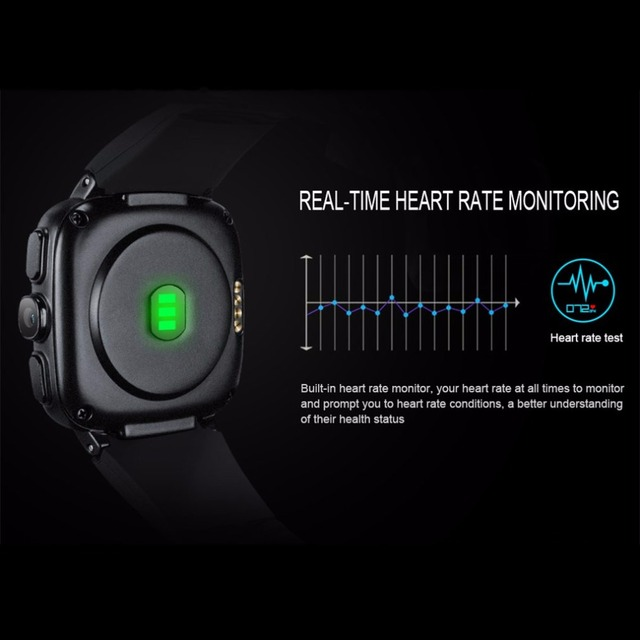 Men's 3G WIFI Heart Rate Monitor Pedometer Smart Sports Watch