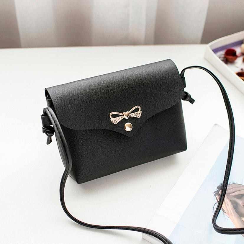 Mini Bow PU Leather Chain Bag Women Handbags Women crossbody bags Ladies  Pretty Crossbody Shoulder Bag 32bb6779fe680