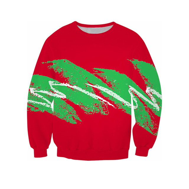 774d84eb583f A Paper Cup Christmas Green Red 3D All Over Print Crewneck Pullover  Sweatshirts Hipster Streetwear Kid Unisex US Size Dropship