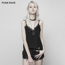Sleeveless Neckline PUNK Casual