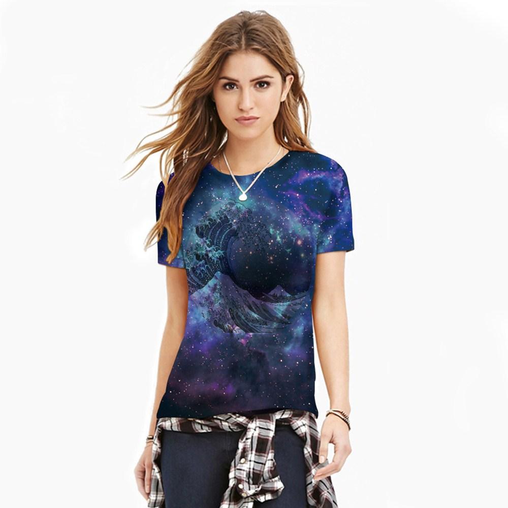 HTB1XKrKQXXXXXbjXVXXq6xXFXXXV - T-shirt blue sky digital print 3D short-sleeved women's shirt