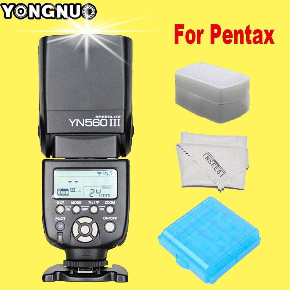 ФОТО Yongnuo Yongnuo YN560 III YN560-III Wireless Flash Speedlite YN560III for Pentax k5 k7 k20d k10d kr kx k200d K100D DSLR Camera