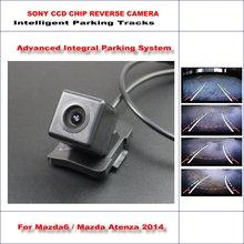 HD CCD SONY Rear Camera For Mazda6 / Mazda Atenza 2014 Intelligent Parking Tracks Reverse Backup / NTSC RCA AUX 580 TV Lines liislee hd ccd sony rear camera for suzuki swift sport 2014 2016 intelligent parking tracks reverse backup ntsc rca aux