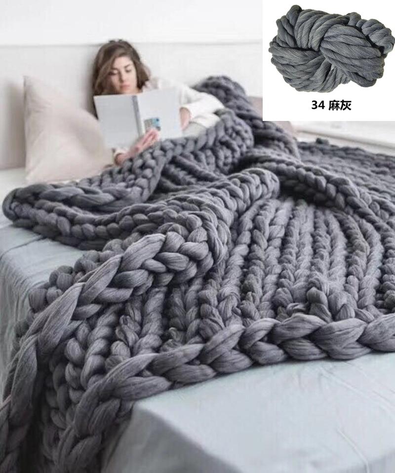 ZENGIA пряжа вязания крючком полиэстер Рука вязание ниток/массивная большая пряжа для вязания мериноса/Толстая шерстяная пряжа для одеяла пря...