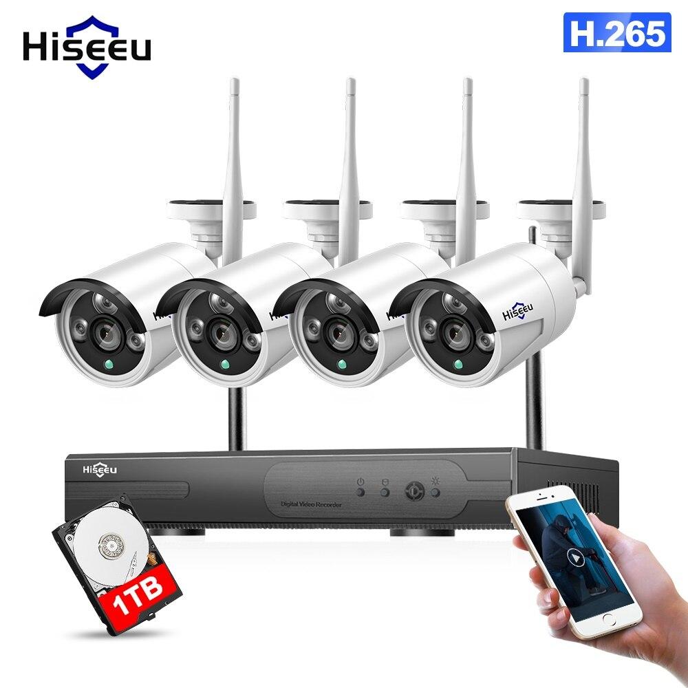 Wi Fi IP пуля камера 1080 P 4 шт. NVR беспроводной видеонаблюдения системы комплект инфракрасный Cam удаленного просмотра по Pro жесткий диск на 1 ТБ