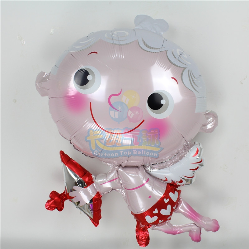 wholesale 15pcs Cupid wedding balloon happy valentine 39 s day wedding party decoration ballon inflatable helium foil globo LLV36 in Ballons amp Accessories from Home amp Garden