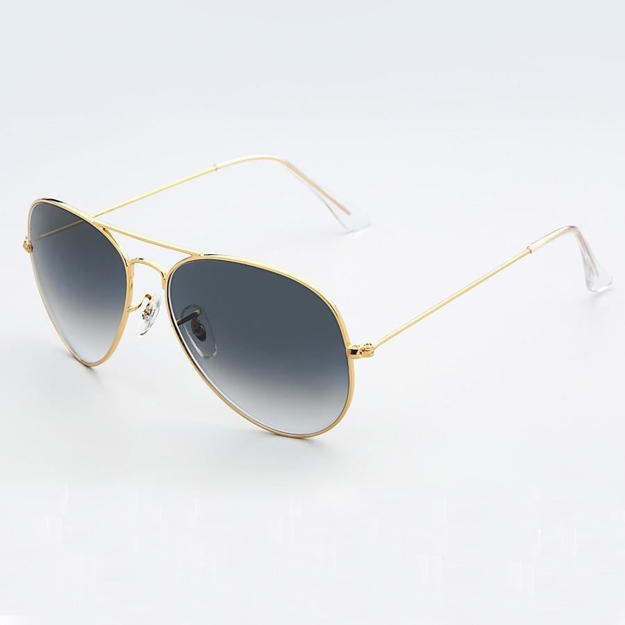 96ca50e3f9308 Uen.sun vintage Aviator classic sunglasses man woman 60mm mirror pilot  sunglass gradient glass lens glasses sol gafas UV400-in Sunglasses from  Apparel ...