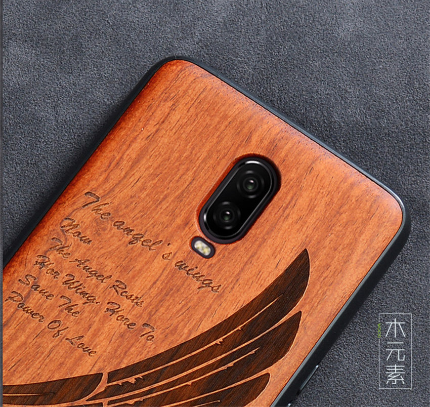 Oneplus 6t Case Boogic Original Real Wood funda Oneplus 6T Rosewood TPU Shockproof Back Cover Phone Shell One plus 6T case (3)