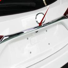Для Mazda 3 M3 Axela хэтчбек хромированная Задняя Крышка багажника задняя дверь ручка отделка молдинг украшения