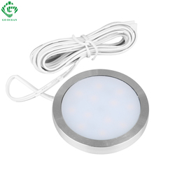 Under Cabinet Lights LED Puck Light Kitchen Round 12V Counter Shelf LED Closet Cupboard Showcase Drawer Wardrobe Indoor Lighting