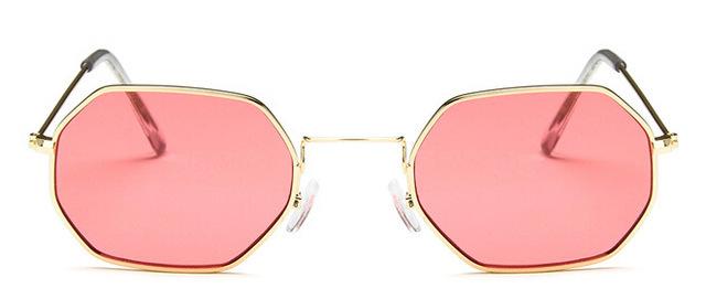 2017 Lahexagon sunglasse metal Women Brand Designer Fashion Rimless Clear Ocean Lenses Sun Glasses UV400
