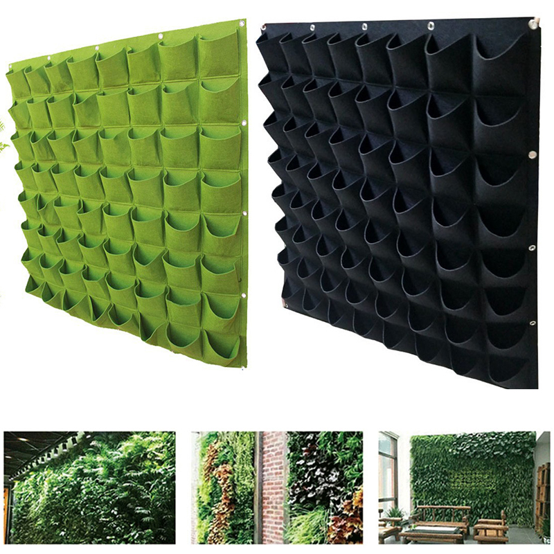 Green Vertical Grow Bag Garden Planter Creative Wall-mounted Planting Flower Grow Bag Hot Vegetable Living Garden Supplies