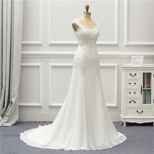 Image 4 - Jeanne Liefde Chiffon Mermaid Trouwjurken 2020 Kralen Applique Lace Robe De Mariage Vestido De Noiva Brida Jurken Wedding Gown