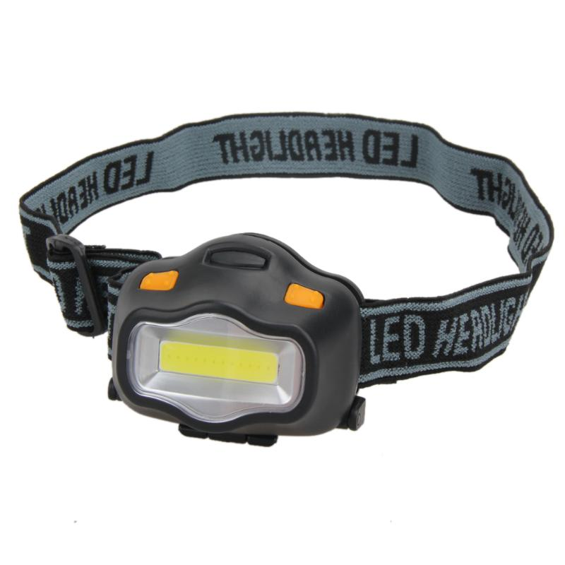 Mini Head Lamp 3 Modes Waterproof COB LED Flashlight Super Bright Headlight Headlamp Torch Lanterna with Headband Use 3*AAA r3 2led super bright mini headlamp headlight flashlight torch lamp 4 models
