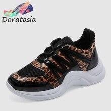 DORATASIA 2019 Spring Autumn INS Hot Leopard Sneakers Women Large Size 36-42 Fashion Ladies Tennis Shoe Casual Shoes Woman