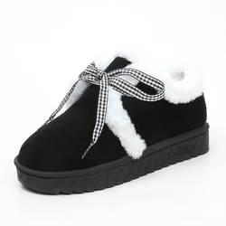 2018 г. зимние женские ботинки, милые студенческие ботинки, бархатная теплая обувь в горошек на толстой подошве