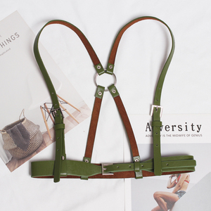 Image 5 - [EAM] 2020 New Spring Summer Pu Leather Black Buckle Strap Personality Adjustable Belt Women Fashion Tide All match JT460