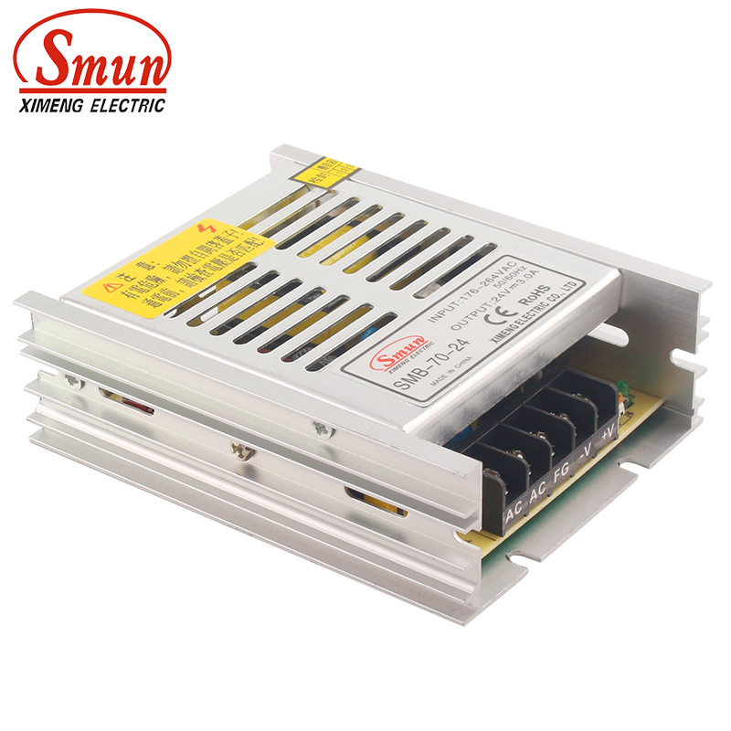 SMUN SMB-70-24 70W Ultra Thin Type Single Output Switching Mode Power Supply 24V 3A AC-DC Slim Led DriverSMUN SMB-70-24 70W Ultra Thin Type Single Output Switching Mode Power Supply 24V 3A AC-DC Slim Led Driver