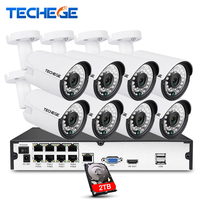 8CH 1080P POE System 2MP 3000TVL PoE IP Camera P2P Cloud 8CH 1080P 48V POE NVR