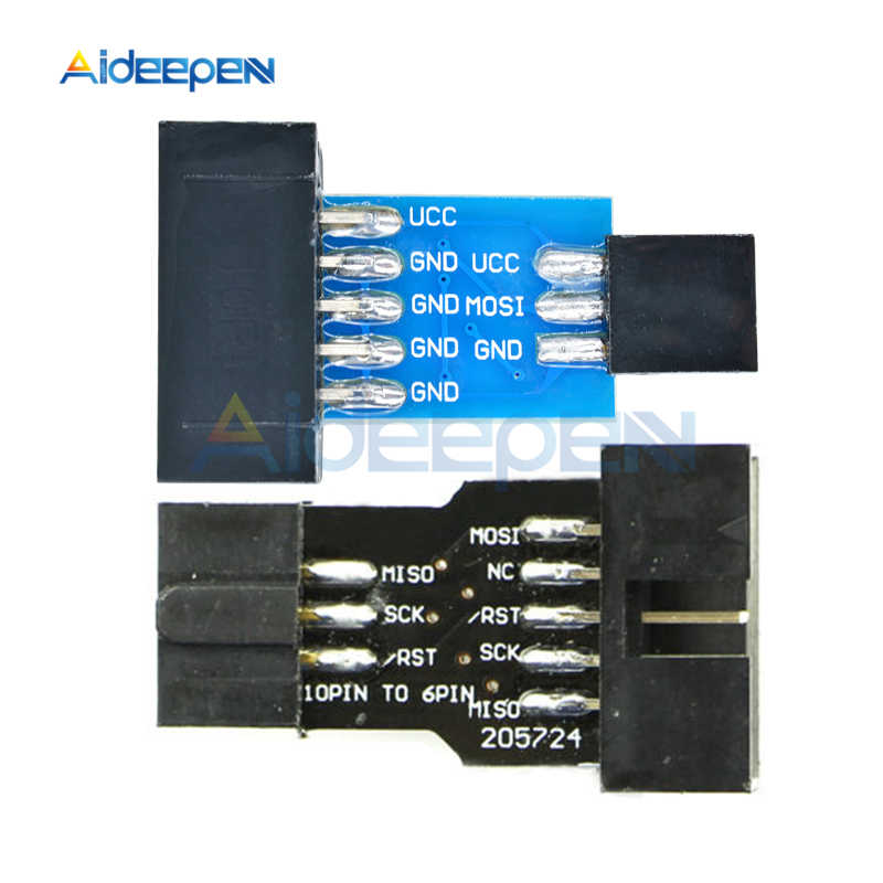 Convertisseur d'interface fai 10 broches à 6 broches pour carte de développement Arduino AVR MCU programmeur AVRISP USBASP STK500