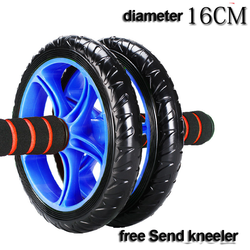 NEW Fitness 16 cm antiskid multi functional health abdomen round Double wheel abs wheel mute health round belly hom Ab Rollers in Ab Rollers from Sports Entertainment