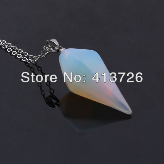 Pendants  Pendants: Free Gift Box Free Chains 2016 New Style Blue Fire Opal Women Jewel Silver Plated Opal Pendant For Women 1 1/8'' OP206