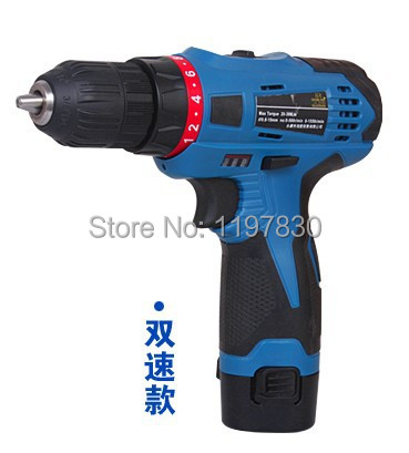 Free shipping GP1002A Blow case package double speed  550w 12V Lithium multifunctional drill driver 1 battery 1charge with gift
