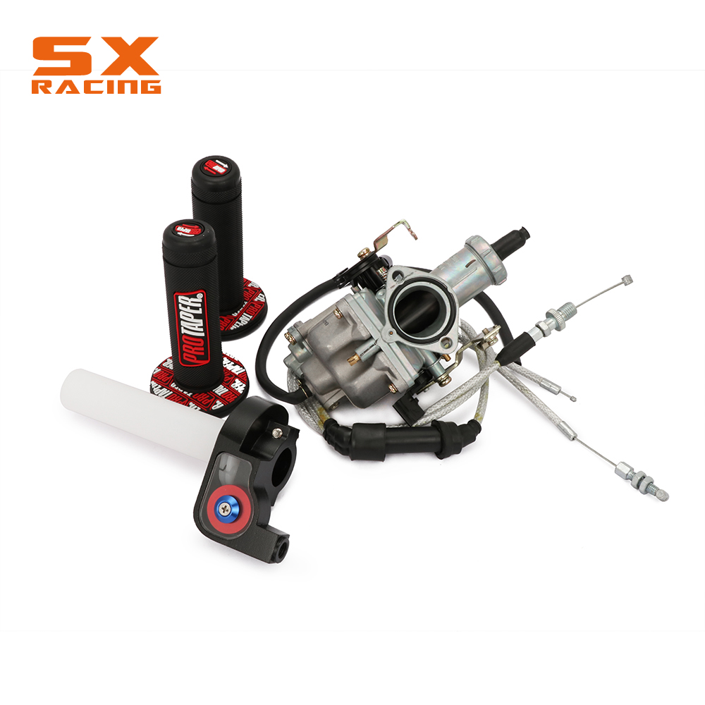 RUSSIA PZ30 30MM Accelerating Pump Tuning Power Jet Carbureter Visiable Twister Dual Reinforced Cable Grips Motorcycle