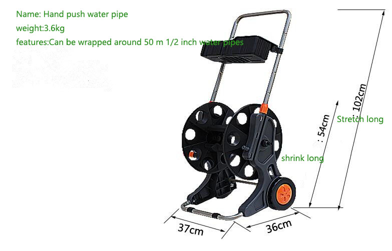 Us 55 25 15 Off 2017 New Portable Hand Push Garden Hose Reel Seal Strong Watertight Hose Cart Car Wash Household Water Hose Holder In Garden Hoses