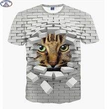 Mr.1991 brand fashion cute super powers cartoon cat 3D t-shirt for boys fashion girls 3D t shirt big kids 12-18 years t shirt A9