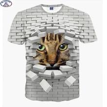 Mr.1991 brand fashion cute super powers cartoon cat 3D t-shirt for boys fashion girls 3D t shirt big kids 6-18 years t shirt A9