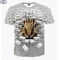 Mr.1991 marca moda bonito super poderes gato dos desenhos animados 3D t-shirt para meninos meninas da moda 3D t camisa crianças grandes 12-18 anos camiseta A9