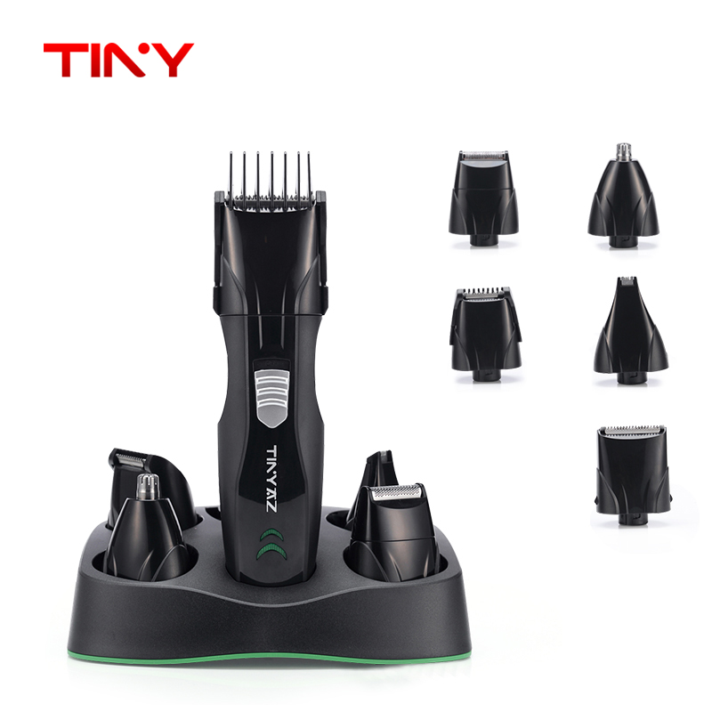 TINY 5 in 1 Men grooming kit Electric Men Shaver Razor Hair Clipper Professional mustache Beard Nose Body trimmer