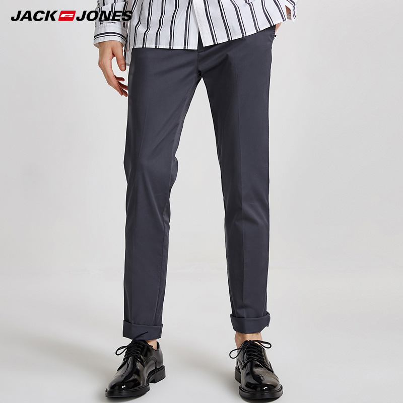 Jack & Jones Men's Spring & Summer Slim Fit Casual Pants |218314548