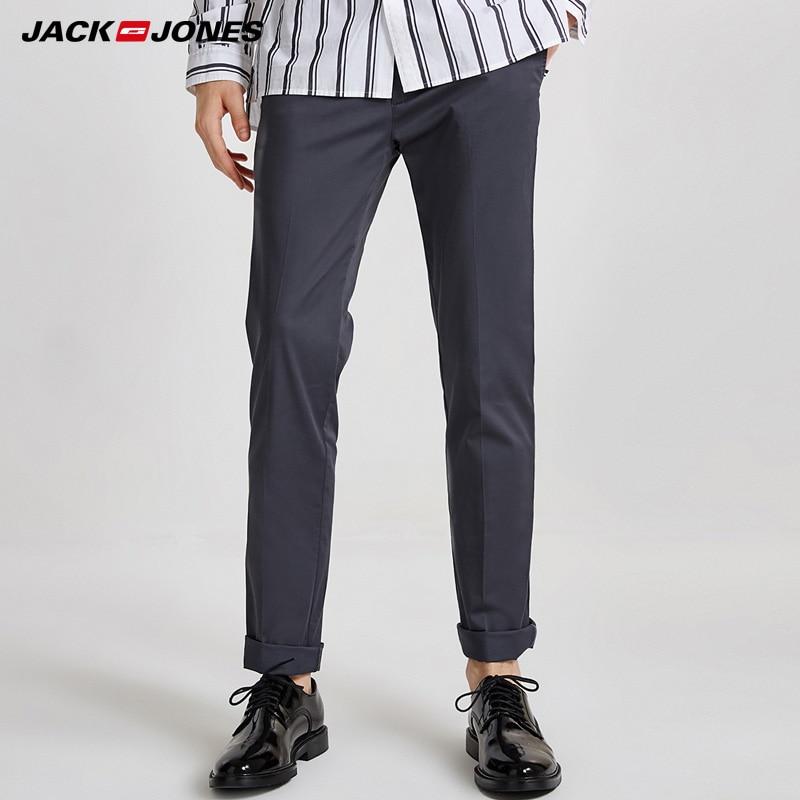 Jack & Jones Men's Spring & Summer Slim Fit Casual Pants |218314548